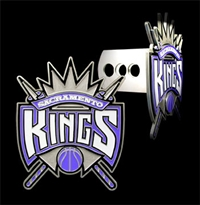 Large Logo-Only NBA Trailer Hitch Cover - Sacramento Kings