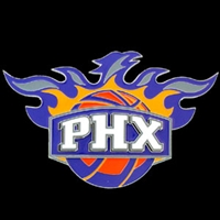 Large Logo-Only NBA Trailer Hitch Cover - Phoenix  Suns