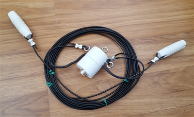 60 Meter Pre-Assembled, Heavy Duty Dipole Antenna