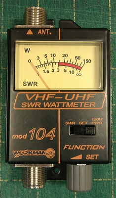 Workman 104 - VHF/UHF SWR & Power Meter for Mobile and Marine