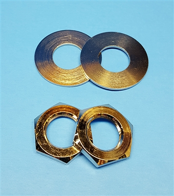 "Large Nut and Washer Set for 5/8"" Feed-Through / Barrel RF Connectors - 2 Each"