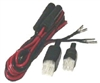 Workman KW2000 - Replacement 12 VDC Power Cord For Alinco, Kenwood, Icom, Yaesu - 6 Pin