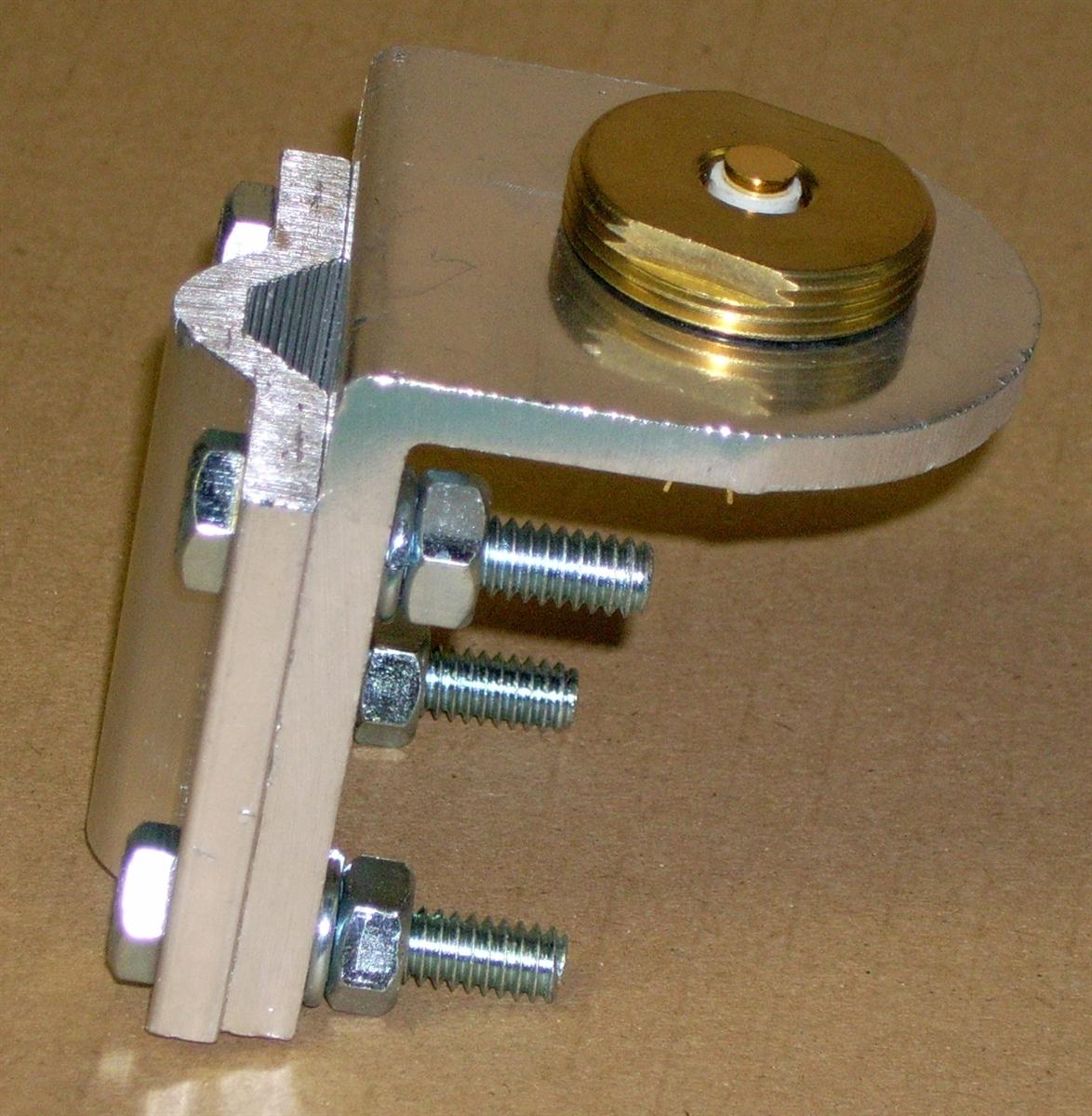 Aluminum Mirror Mount Bracket ~ Radio Antenna ~ For screw on coax cable