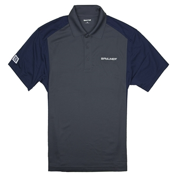 Colorblock Sport Polo - Grey / Navy