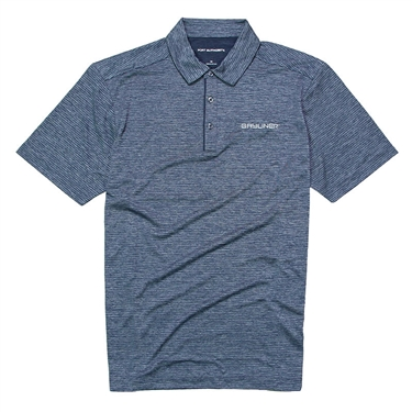 Shadow Stripe Polo - River Blue
