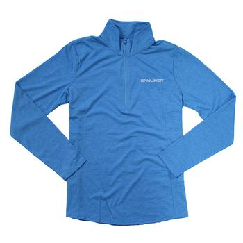 Ladies 1/4 Zip Triblend Pullover - Pond Blue