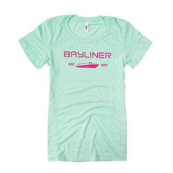 Ladies Profile V-Neck Tee - Mint