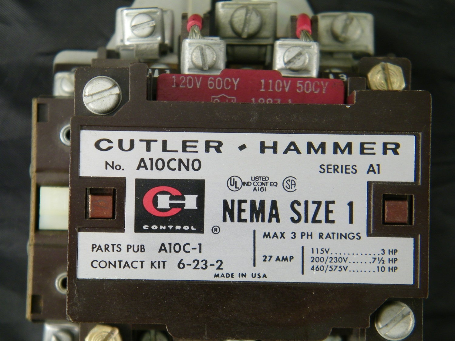 a10cno a10cn0 cutler hammer Lighting Contactor Diagram Magnetic Starter Wiring Diagram a10 cutler hammer contactor wiring diagram