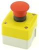 PB-MOM-R-M-E1-11 22MM MOMENTARY MUSHROOM EMERGENCY  PUSH BUTTON   INCLUDED 1NC ZB2BE101, 1NO ZB2BE102   CONTACT BLOCKS  WITH PLASTIC ENCLOSURE