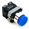 PBC-P22XTMO2-EB-11 DIRECT REPLACEMENT FITS TELEMECANIQUE BLUE PUSH BUTTON,  EXTENDED MOMENTARY. 1NO/1NC ZB2BE101,ZBE102 CONTACT BLOCKS.