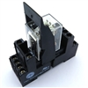 PBC-REC-4P5A-24AC/SOCKET ICE CUBE GENERAL PURPOSE RELAY 14-BLADE 4PDT 5AMP 24V AC-COIL MY4 PBC-SOCKET-REC-4P5A SOCKET