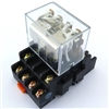 PBC-REM-4P10A-24VDC/SOCKET ICE CUBE GENERAL PURPOSE RELAY MINIATURE SQUARE BASE 14-BLADE 4PDT 10AMP 24VDC-COIL INCLUDED PBC-SOCKET-REM-4P10A SOCKET