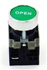PBC-XB4BA31-OPEN  DIRECT REPLACEMENT FITS TELEMECANIQUE 22MM GREEN OPEN FLUSH PUSH BUTTON WITH 1NO/1NC CONTACT BLOCK (YOU CAN ADD OR CHANGE THE CONTACT BLOCKS TO 2NC OR 2 NO)