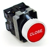 PBC-XB4BA42-CLOSE DIRECT REPLACEMENT FITS TELEMECANIQUE 22MM RED CLOSE FLUSH PUSH BUTTON WITH 1NO/1NC CONTACT BLOCK (YOU CAN ADD OR CHANGE THE CONTACT BLOCKS TO 2NC OR 2 NO)