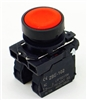 PBC-XB5AA42  REPLACEMENT FITS TELEMECANIQUE XB5AA42 22MM RED PUSH BUTTON MOMENTARY 1NO/1NC