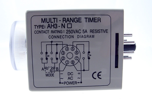 TIMERON1S10M240V RELAY TIMER ON DELAY 1SECOND 10MINUTES 24