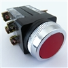 YC-30MOMF-R-22 30MM MOMENTARY FLUSH RED PUSHBUTTON 2NO 2NC