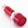 PACK OF 10 YuCo YC-9TRM-1R-12-10 RED LED 9MM 12V AC/DC