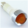 PACK OF 10 YuCo YC-9TRS-14A-12-10 AMBER LED 9MM 12V AC/DC