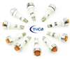 PACK OF 10 YuCo YC-9TRS-14A-120-10 AMBER LED 9M 120V AC/DC