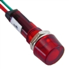 PACK OF 10 YuCo YC-9WRT-1R-12-10 RED LED 9MM 12V AC/DC
