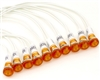 PACK OF 10 YuCo YC-9WRT-23A-12-N-10 AMBER NEON 9MM 12V AC/DC