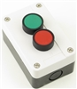 YC-MOM-E2GR22-C PB-MOM-E2GR22-C STOP START BUTTON STATION GREEN / RED PLASTIC ENC