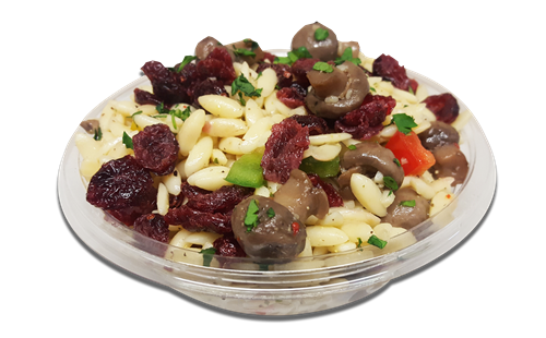 TK Mushroom Orso Salad with Dried Cranberries