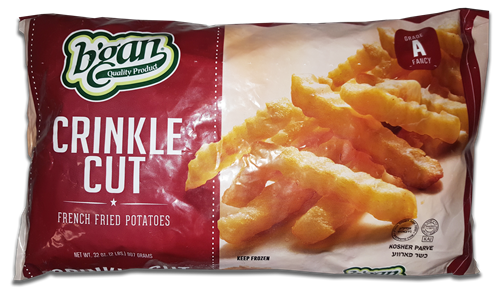 B'Gan Crinkle Cut French Fried Potatoes 907g (frozen)
