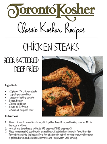 Chicken Steak Recipe