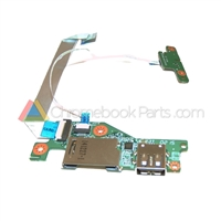 Acer 11 C720 Chromebook USB Card Reader and LED Board Set - 55.SHEN7.002