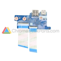 HP 11 G8 EE (AMD) Chromebook Power and USB Daughterboard - L89792-001