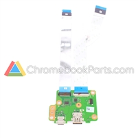 Asus 15 C523N Chromebook Power/USB Daughterboard  - 69N15RD10D00-01