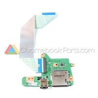 HP 14 Q-Series Chromebook USB and WWAN Card Daughterboard - 744781-001