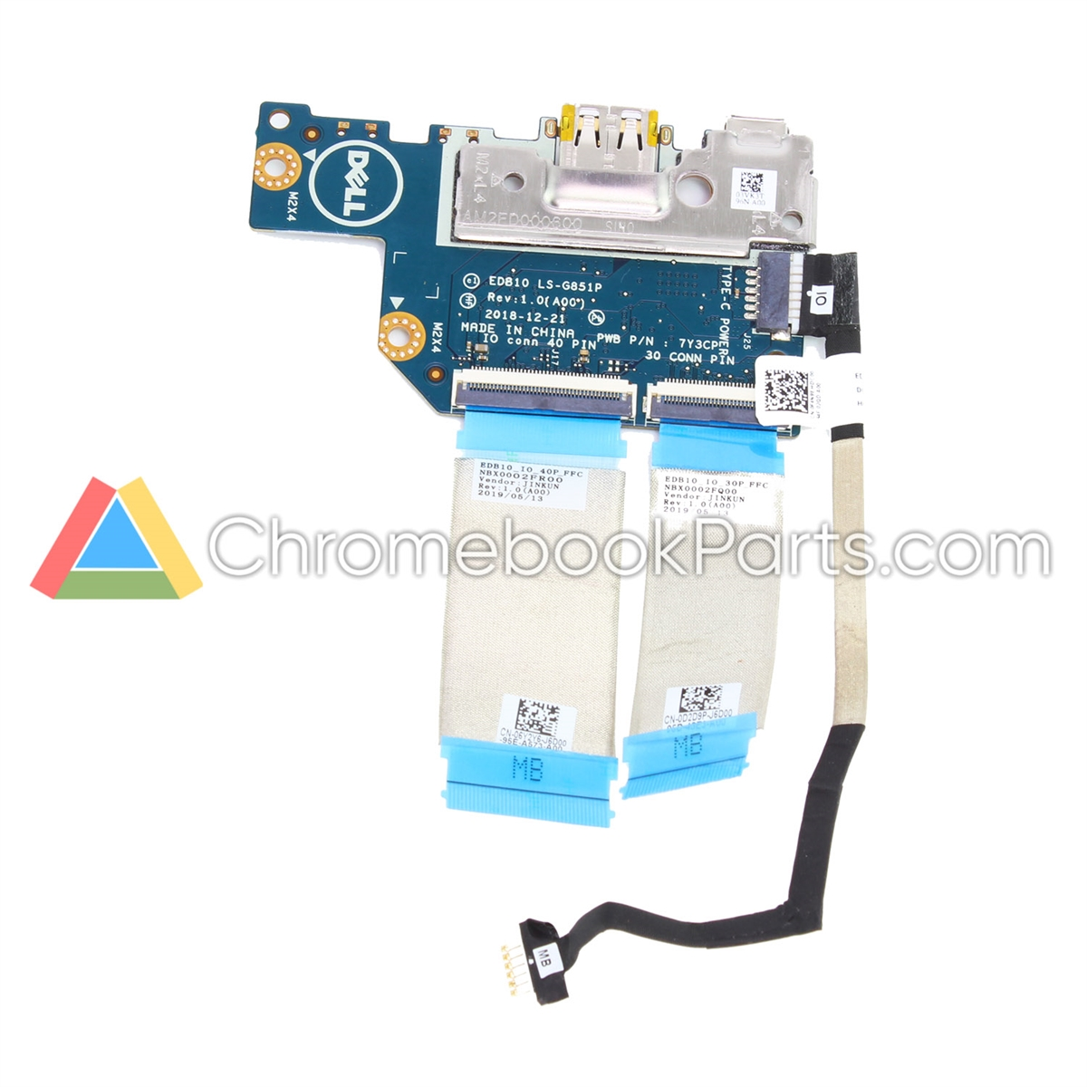Dell 11 3100 Touch Chromebook Power and USB Daughterboard