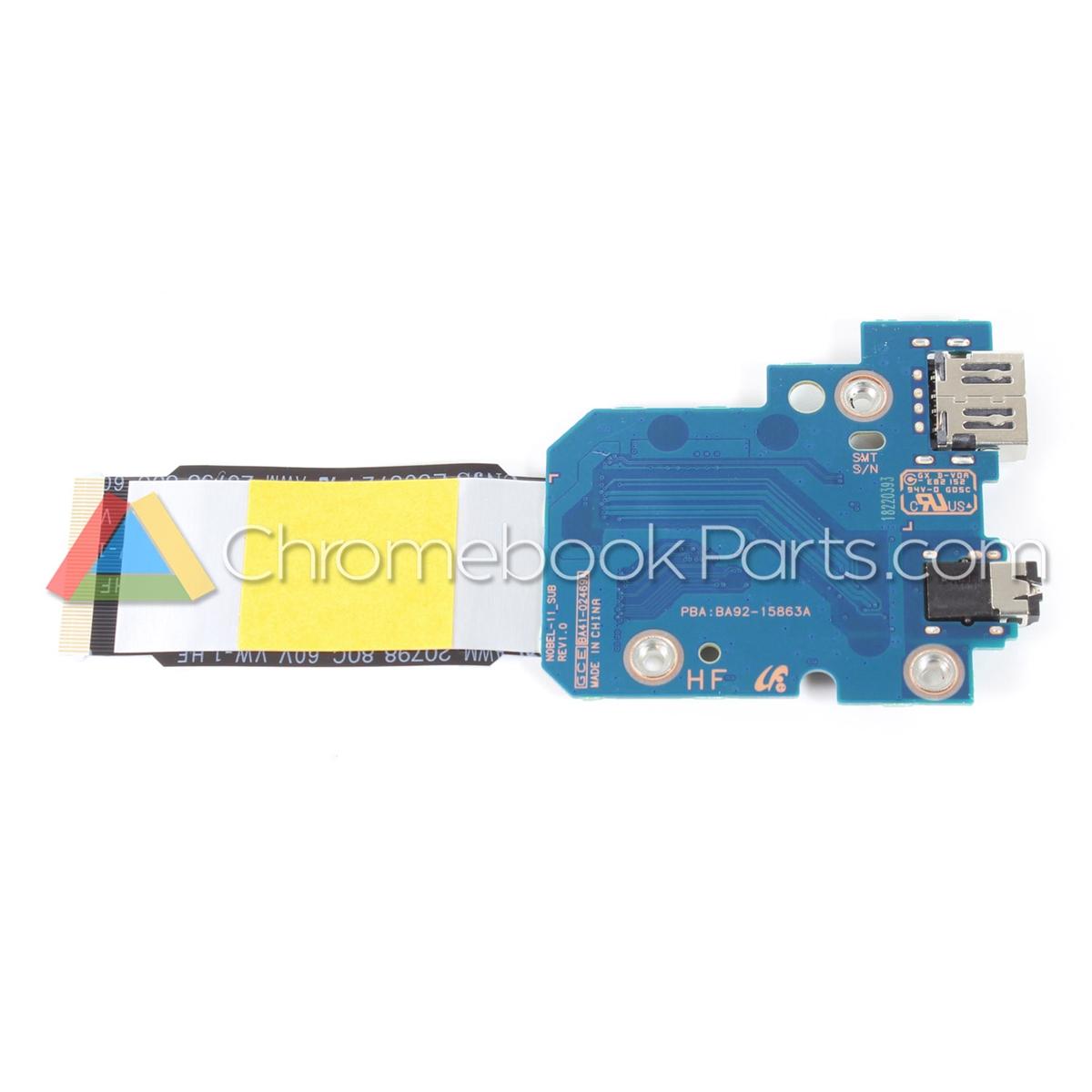 Samsung 11 XE500C13 Chromebook USB, Audio, & Wifi Daughterboard