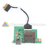 Toshiba 13 CB35-C3300 Chromebook USB Card Reader Board - DA0BUITH8D0