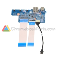 HP 11 x360 G2 EE Touch Chromebook Power and USB Daughterboard - L53195-001