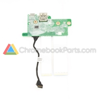 HP 11 G7 EE Chromebook Power and USB Daughterboard - L52570-001