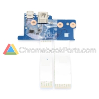 HP 11 G6 EE (AMD) Chromebook USB Daughterboard - L57729-001