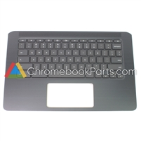 HP 14 G5 Chromebook Palmrest Assembly w/ Keyboard Only - L14354-001