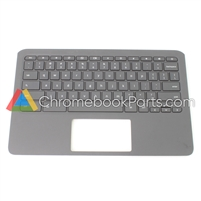 HP 11 G6 EE (AMD) Chromebook Palmrest Assembly w/ Keyboard Only - L92224-001