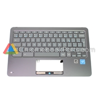 HP 11 X360 G1EE (WFC version) Palmrest Assembly w/ Keyboard Only (Canadian Version) - 927658-DB1