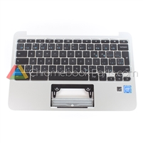 HP 11 G3/G4 Palmrest Assembly w/ Keyboard Only, Euro Version