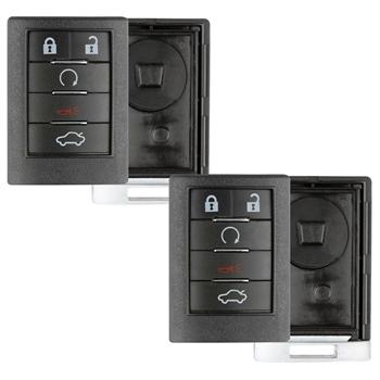 2 Case Shell For Cadillac Cts Srx Sts Keyless Entry Key