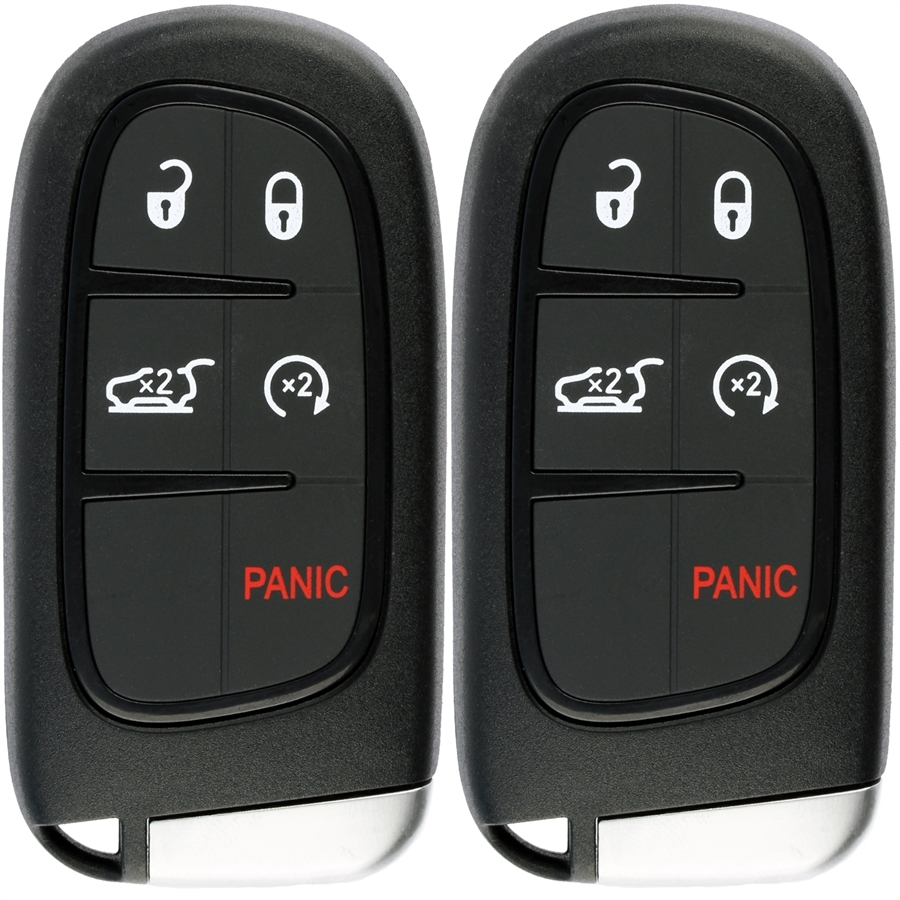 Jeep Key Fob Battery >> 2 Smart Key Fob Keyless Entry Remote Fits 2014 2019 Jeep Cherokee Gq4 54t