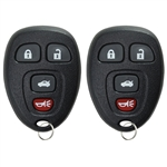 2 New Keyless Entry Remote Key Fob for Buick Chevy Pontiac Saturn (15252034)