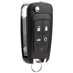 New Flip Key Fob Keyless Entry Remote Start for 2010-2016 Buick Chevy GMC (OHT01060512)