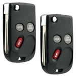 2 New Flip Keyless Entry Remote Key Fob for 1998-2001 Chevy GMC (15732803)