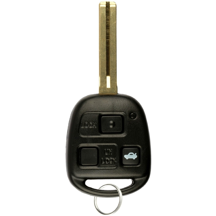Black+Red Remote Car Key Shell Case for Lexus Lexus GS300 GS400 GS430 GX470 IS300 LS400 LS430 LX470 RX300 RX330 RX350 RX400h RX450h SC430 Key Shell No Blade with Screwdriver